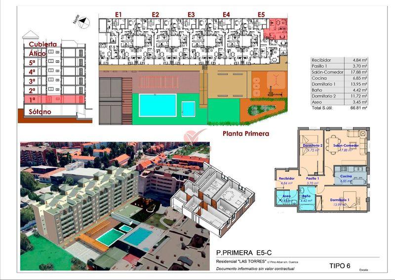 Piso en venta  en Cuenca . Ref: 105450. Inmobiliaria Vieco